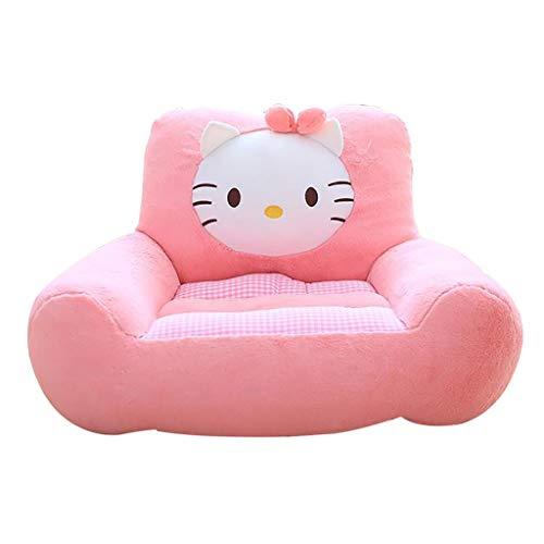 Animal Chaise De Bébé, Douillet Et Moelleux Canapé Garçon Fille Accoudoir Sofa Mini Pouf Poire 7 Couleurs (Color : Pink)