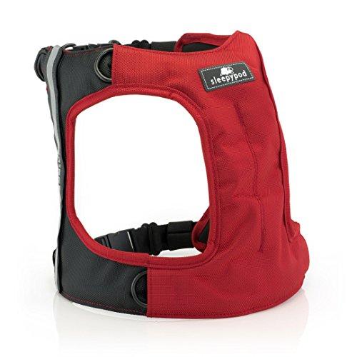 Sleepypod Clickit Terrain Auto-Sicherheitsgurt Sicherheitsgurtgeschirr für Hunde (XL, Strawberry Red)