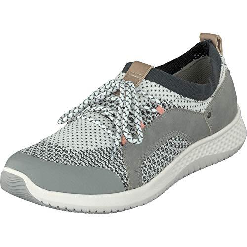 Relife Damen Schuhe Sneaker Halbschuhe 9067-19701-02 in 2 Farben (44 EU, Grey)