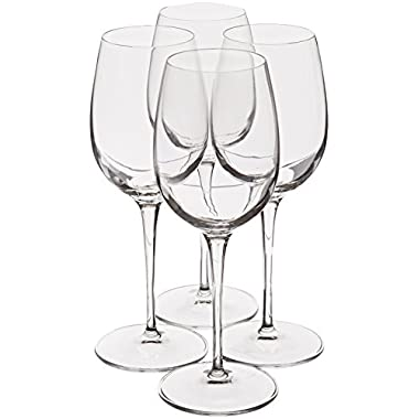 Luigi Bormioli Crescendo 13-Ounce Chardonnay Wine Glasses, Set of 4