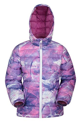 Mountain Warehouse Seasons Padded Kids Jacket Water Resistant Lightweight Insulated Rain Coat for Boys Girls Great for Autumn Winter School or Travelling Lilac 5 6 Years