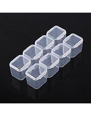 AMONIDA Pudełko na tabletki pudełko do przechowywania leków pudełko do przechowywania tabletek, pudełko na biżuterię plastikowe przezroczyste plastikowe 28 szczelin regulowane tabletki leki organizer do przechowywania biżuterii, pudełko na leki, pojemniki do przechowywania butów