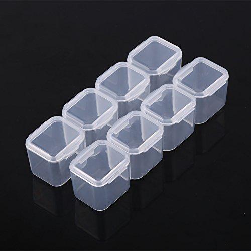Förvaringslåda för surfplatta, klar plast 28 fack justerbar tablett medicin smycken förvaring organisatör, låda medicinlåda, för fingerringar för halsband pärlor för förvaring av piller för örhängen