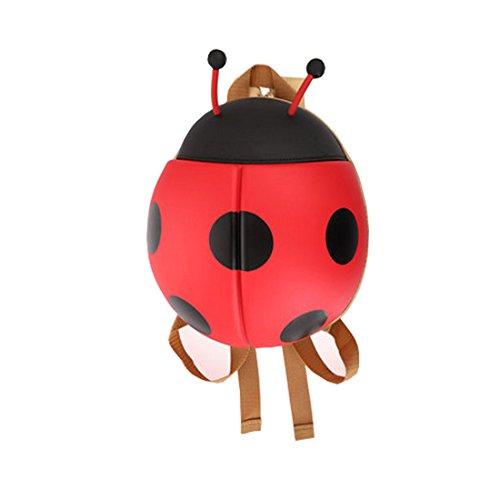 Cool&D Baby Rucksack Kindergarten Rucksack mit Marienkäfer Muster Schultasche für Jungen und Mädchen 1-4 Jahre