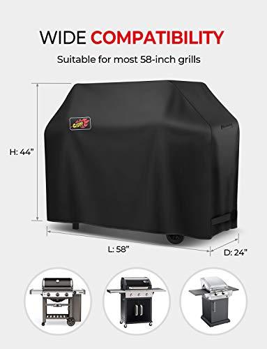 VicTsing 600D 58-Inch Heavy Duty Waterproof Grill Cover