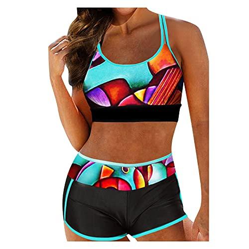Rouped Boho Biquini Mujer,2pcs Bikinis Mujer Push up,Trajes de baño para Mujer 2021,Bikini Braga Alta,RY2134