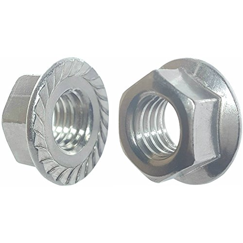 SNUG Fasteners (SNG269) Fifty (50) 1/4-20 Zinc Plated Serrated Flange Hex Lock Nuts
