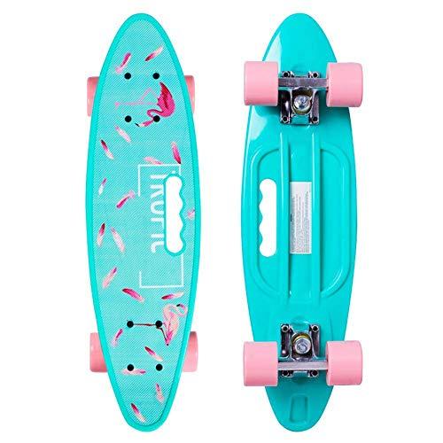 Yangyang Skateboard Komplettboard,Mini Cruiser Kickboard- Skateboard mädchen Rollen Board - hohe Qualität Old School Skateboards Holz Deck - Retro Skateboard Jungen - Kinder ab 3 Jahre Mini-Board