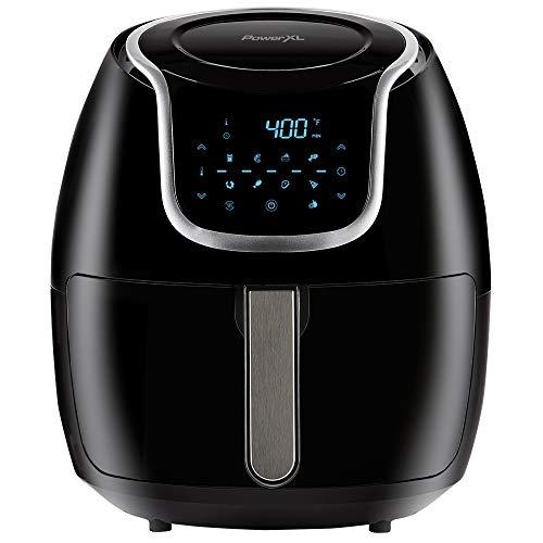 PowerXL Air Fryer Vortex - Multi Cooker with Roast, Bake, Food Dehydrator, Reheat Non Stick Coated Basket, Cookbook (7 QT, Black)