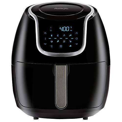 PowerXL Air Fryer Vortex - Multi Cooker with Roast, Bake, Food Dehydrator, Reheat Non Stick Coated Basket, Cookbook (7 QT, Black)