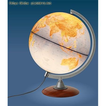 ORBYS 地球儀 カラーラ30L ライト付 球径30cm 行政図 43560