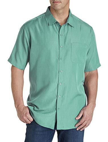 Harbor Bay by DXL Big and Tall Microfiber Comfort Grid Sport Shirt, Latigo Bay, 3XLT