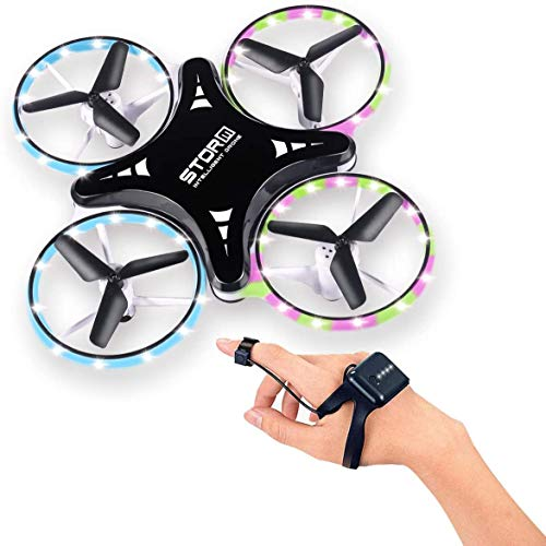 Mini Drone for Kids, RC Mini Quadcopter RC Drone for Kids and Beginners, 2.4G Gravity Sensor Hand Controlled Indoor Drone, Altitude Hold with LED Lights Gift for Beginners