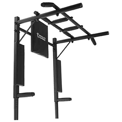 StM–Sport | Klimmzugstange 3 in 1 Ironman Schwarz | Wandmontage | Pull Up Bar/Chin Up Bar | Multifunktional | Dip Station | Home Gym | Workout | Sportgerät | Fitness Geräte | Klimmzug Stangen