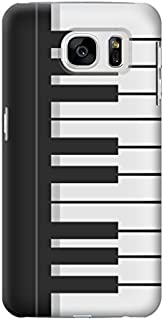 R3078 Black and White Piano Keyboard Case Cover For Samsung Galaxy S7 Edge