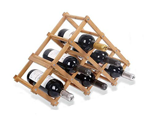 LEYENDAS Botellero de Madera de Bambú. Estante para Botellas de Vino, Organizador de Vino. Vinoteca de Madera para Botella de Vino, Botella de Cerveza (56x17x37cm, BAMBÚ 6)