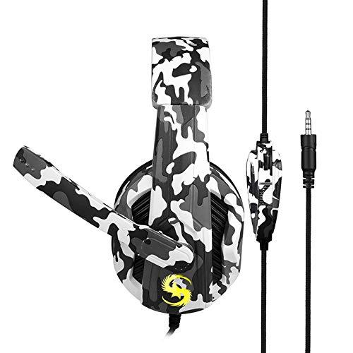 Andoer KUBITE T-173 3,5 mm Fones de ouvido para jogos com fio Fone de ouvido de música Fone de ouvido de cancelamento de ruído com microfone e controle de volume mudo para smartphones PS4 Laptop Tabl