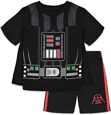 Disney Star Wars Darth Vader Toddler Boys Caped T Shirt and Shorts Set Black 4T product image