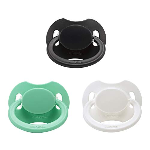 LittleForBig Bigshield Generation-II Adult Sized Pacifier 3 Paci Pack - Black,White,Green