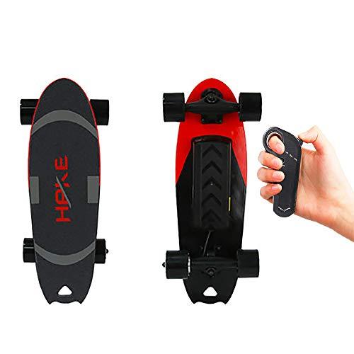 FGKING Elektrisches Skateboard, elektronisches Longboard, elektrisches Rollbrett, elektrisches Ahorn-Skateboard mit drahtloser Fernbedienung für Anfänger und Pendler in der Stadt,2