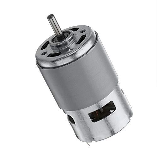 NO LOGO WJN-Motor, 1PC 775 Motore CC CC 12V-24V Max 35000 RPM del Cuscinetto a Sfere Grande Coppia Elevata Potenza a Basso Rumore Gear Motor Motore di componenti elettronici (Taglia : AS Show)