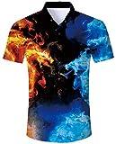 ALISISTER Camisa Hawaiana...image
