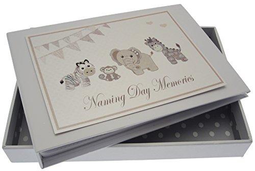 White Cotton Cards Silber Toys Namensgebung Tag Album (Tiny)