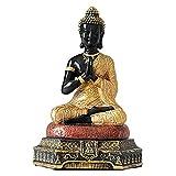sharprepublic Estatua de Buda Adornos Decoración del hogar Artesanía Resina Escultura de Buda Estatuilla Decorativa de Buda - Oro