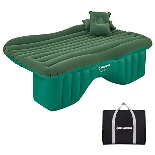 KingCamp 車中泊 マット 枕2個付き 車用ベッド エアーベッド 車載 エアーマット 後部座席マット ベッドキット 車中泊ベッド キャンプ用品