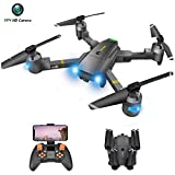 Drone with Camera - RC Drones for Beginners, WiFi FPV Drone w/ 720P HD Camera/Voice & APP Control/Trajectory Flight/Altitude Hold/Gravity Sensor, VR Game, Drone with Camera for Adults & Kids