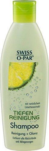 6 x Swiss-O-Par TIEFENREINIGUNG SHAMPOO für jedes Haar 250ml