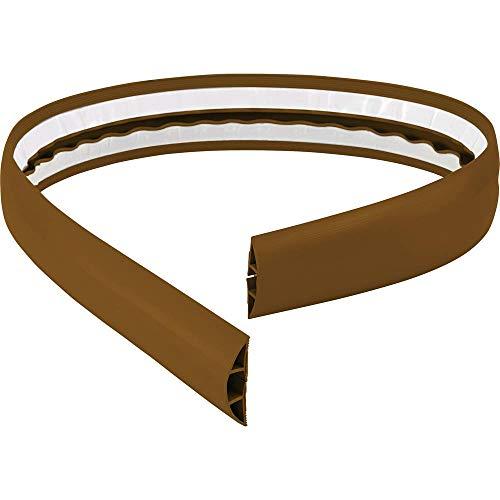 TRU Components Protège-câbles 1570429 PVC Marron Nombre de canaux: 1 1800 mm 1.8 m