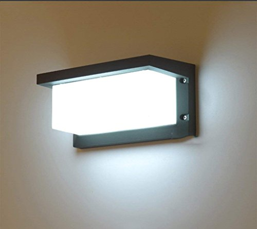 Desinger Aplique de pared LED Aplique de pared europeo Aplique de pared exterior Aplique impermeable y antipolvo Aplique de pared exterior de balcón Villa europeo Balcón (Color : Cold light)