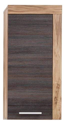 trendteam smart living 1259-503-59 Bad-Hängeschrank Cancun in Nussbaum Satin, 36 x 79 x 23 cm, (BxHxT)