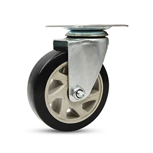 AJZGF Lenkrollen Wheel Gleitrollen, schwere Industrie Rollen Rollen 360 ° -Drehung Caster, Roll Polyamino Mute Office Chair Caster Wheels