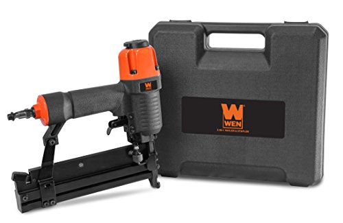 WEN 61718 18 Gauge 2' 2-in-1 Pneumatic Brad Nailer & Stapler with Carrying...