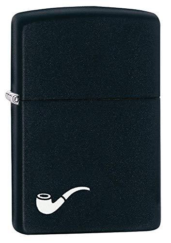 Zippo Feuerzeug 60001269 Pipe Lighte Benzinfeuerzeug, Messing, Black Matte, 1 x 3,5 x 5,5 cm