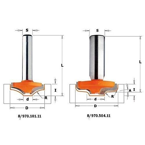 CMT Orange Tools 970.101.11 frees voor deuren van MDF, hw s 8 d, 25 x 8 x 40, r 12