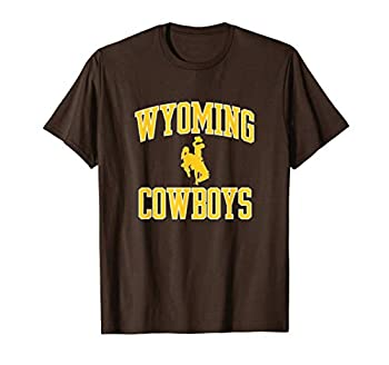 Mens Wyoming Cowboys Apparel Gameday Brown Arch Over Cowboys T-Shirt