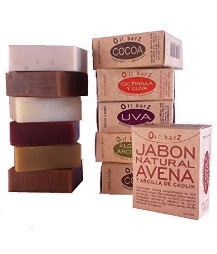 Jabón Natural y Artesanal. Paquete especial de 6 Piezas.