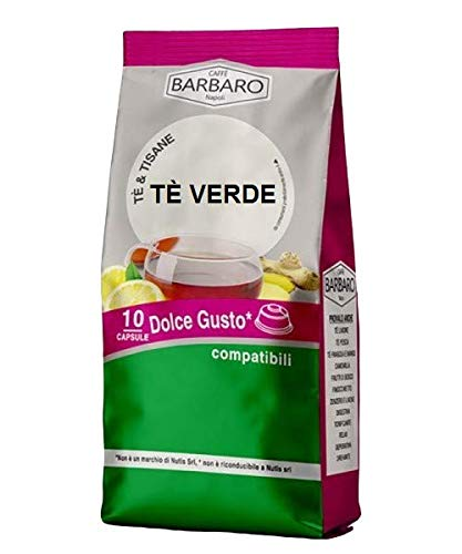 GROENE THEE BARBARO - 10 DOLCE GUSTO COMPATIBELE CAPSULES 3.5g