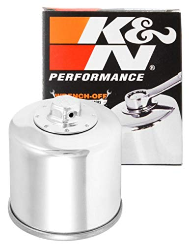K&N Motorcycle Oil Filter: High Performance, Premium, Designed to be used with Synthetic or Conventional Oils: Fits Select Honda, Kawasaki, Polaris, Yamaha Motorcycles, KN-204C