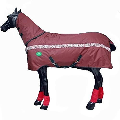 LOVEPET Winter-Pferdedecke Cotton Horse Decke dick warm wasserdicht, regendicht, Winddicht, reißfest Kragen, Abnehmbare Ausschnitt, Tail Cover, 900D Oxford Tuch