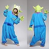 漫画のコスプレの衣装ジャンプスーツフリースパジャマ衣装パジャマonesiesパフォーマンス服 (Color : Toy Story Aliens, Size : XL)