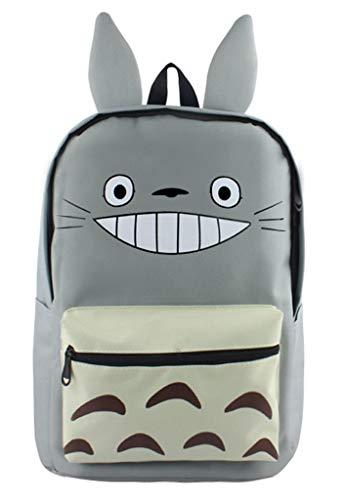 WANHONGYUE My Neighbor Totoro Anime Orecchie Carine Cartella Zaino Backpack Borsa da Scuola per Ragazzi e Ragazze