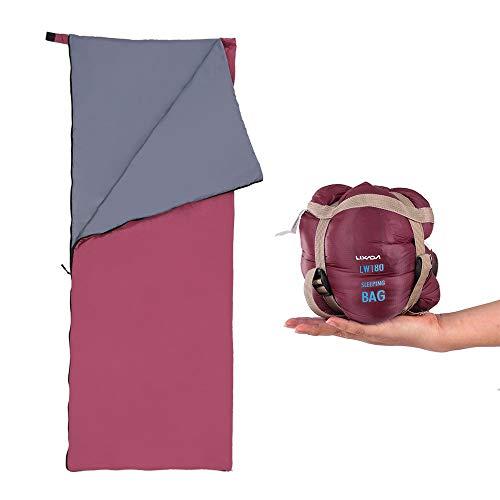 Lixada Schlafsack Ultraleicht Sleeping Bag 190 * 75cm für Camping Reisen Wandern Multifunktion