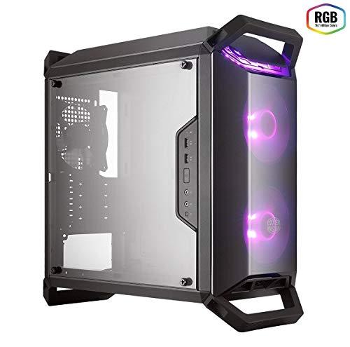 Gabinete Cooler Master MasterBox Q300P RGB, M-ATX, Lateral em Acrílico Transparente, 2 Ventoinhas RGB Frontais, Frontal em Acrílico Transparente, PSU Cover, Posicionamento Vertical e Horizontal
