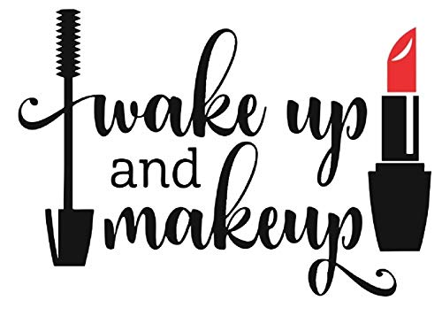 Pegatina Promotion Wake up and Make up Lippenstift Lipstick Mascara 30cm...