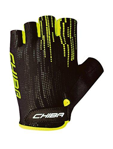 Chiba Road Plus Fahrrad Handschuhe kurz schwarz/gelb 2016: Größe: L (9)