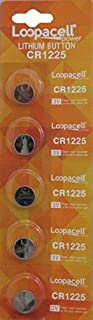 Loopacell CR1225 3V Micro Lithium Button Coin Cell Battery 5 Pcs